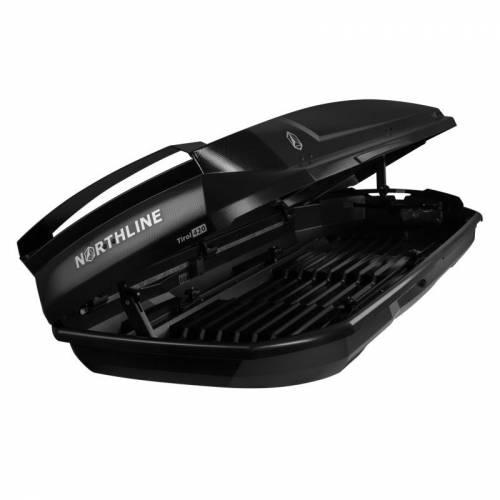 NORTHLINE-Tirol 420 Wing tetőbox, karbon fekete színű/420 Liter (205x84x35 cm)