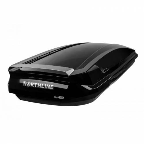 NORTHLINE-Tirol 420 Wing tetőbox, fényes fekete színű/420 Liter (205x84x35 cm)