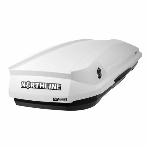 NORTHLINE-EVOspace tetőbox, fényes fehér színű/330 Liter (190x67x36 cm)